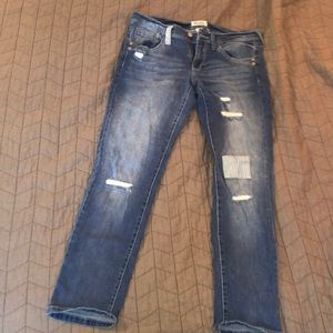 Mudd skinny jeans with patches